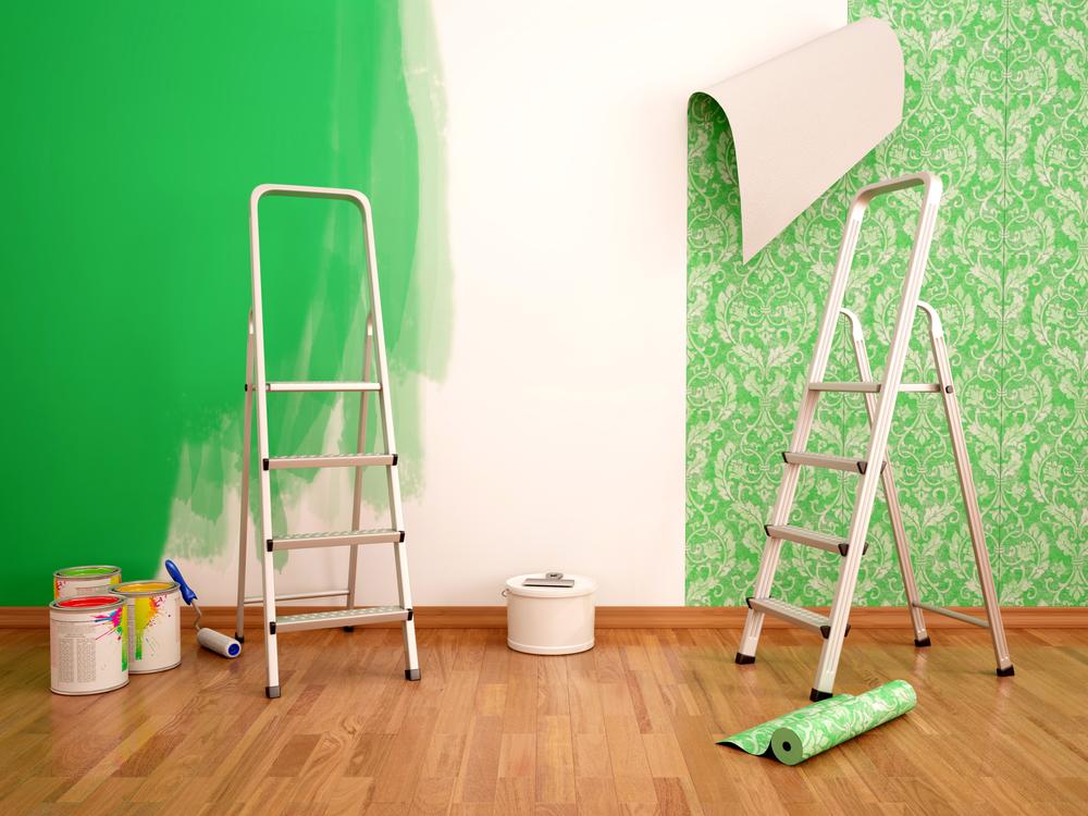 maler væggen grøn